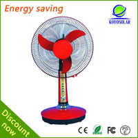 Rechargeable 16inch 15w table 12v battery rechargeable fan