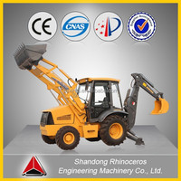 backhoe loader XNWZ74180 made in China construction trenching machine 7ton backhoe loader for sale