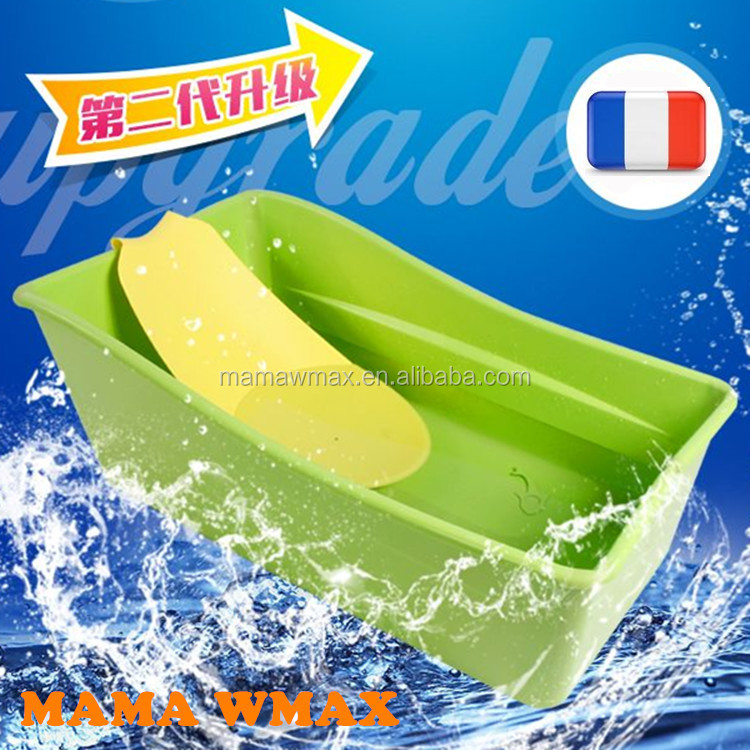 Folding Baby bath tub baby bathtub child portable folding plastic tub waterproof
