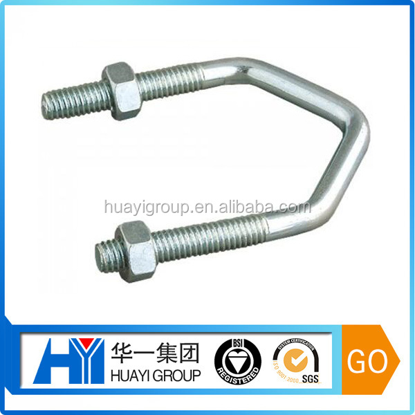 customized steel with zinc plated v shaped bolt manufacturer