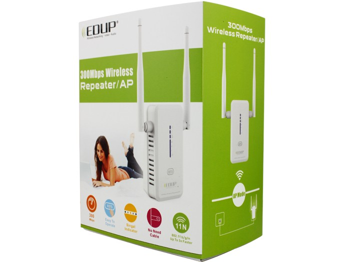 Manufacturer EP-2917 Long Range Strong Signal Dual Band Wifi Repeater Wifi Extender With 2*3dBi Antenna