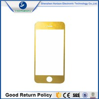 2016 NEW product replacement front gold glass for iphone 4