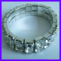 elastic acrylic silver bracelet for wedding for USA market
