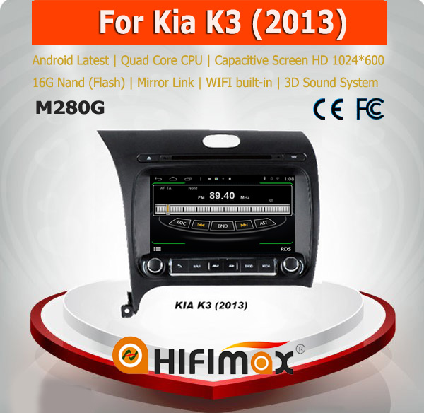 HIFIMAX Android 4.4.4 special car gps navigation system for Kia K3 dashboard auto radio dvd gps with K3 car accessories