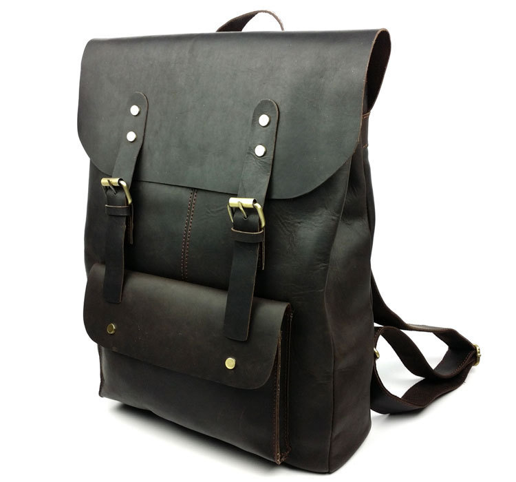 Wholesale Retail mens designer leather backpack and genuine ...