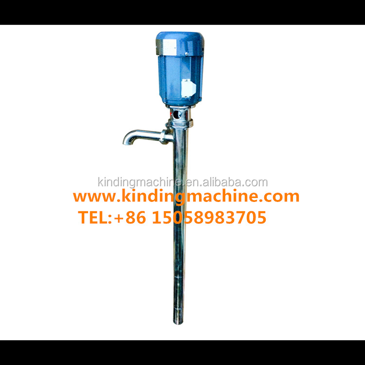 Stainless steel vertical mono screw drum pump for high viscosity products