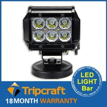 2015 Best Quality Factory Price 4x4 18w Car Led Light Bar With Wiring kit