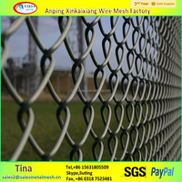 Black vinyl coated chain link fence, square post chain link fence, chain link fence direct factory