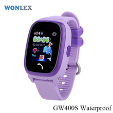 2017 Wonlex GW400S 3G Colorful Android Smart Kids Dual Sim Watch Phone Waterproof Mobile Phone with GPS for Anti Lost