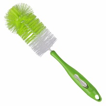 Long Handle Nylon Head Plastic Baby Bottle Brush with Nippple Cleaner