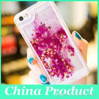 I6 6S Dynamic Liquid Glitter Sand Quicksand Star Case For phone6/6S Plus Crystal Clear Cellphone Back Cover For smart phone 6S