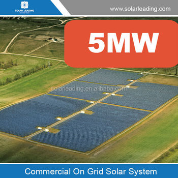 5mw Solar Power Plant Grid Tied System Roof Top And