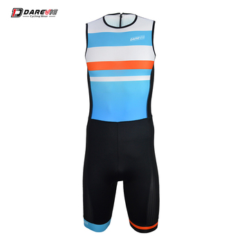 Hot selling OEM ODM Triathlon Sport cycling compression Trisuit with Back YKK Zipper