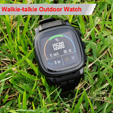 2017 waterproof sport chrono watch interphone, outdoor freetalker smart watch, watch walkie talkie