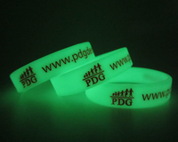 Elegant custom glowing in the dark silicone wristband for event