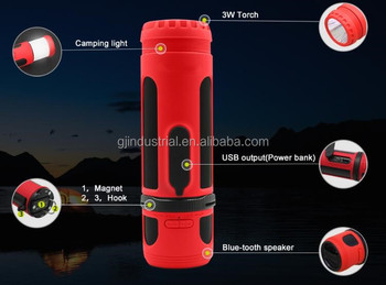 High end camping light speaker with 5000mah power bank for cell phone