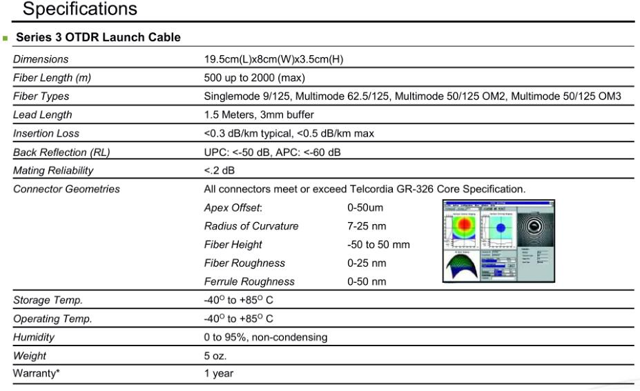 Fiber Optic OTDR Launch Cable Box , Fiber Rings, OutDoor Cable Testing, 0.5KM, 1KM, 2KM