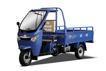 three wheel motor tricycle with half closed cabin for cargo