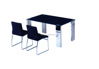 stainless steel dining table base / glass top dining table DM012
