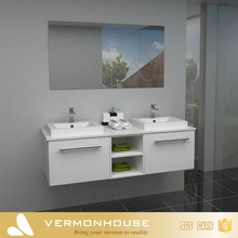 Modern cheap hung waterproof pvc spanish bathroom vanity