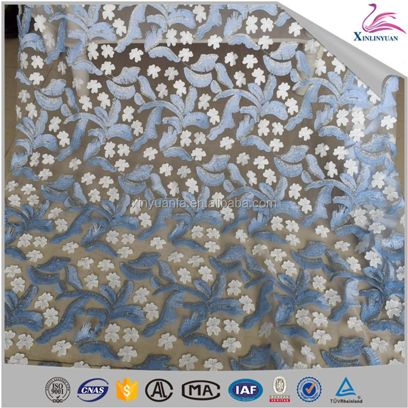 3d laser cutting special embroidery lace fabric