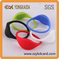 Hot selling silicone smart nfc bracelet with qr code