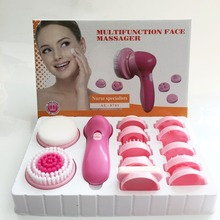 Hot sale ABS face massager set pobling face cleanser and massager brush