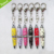 Hot Selling Souvenir Custom Printed Crystal Pen With Key Chain