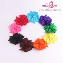 3inch grosgrain ribbon boutique hair bows with clip