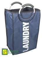 single laundry bag with round aluminium handle
