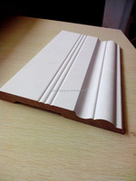 CARB P2 primed MDF wood skirting molding for home decoration