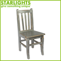 square vintage wood dinning chair