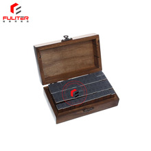 Brown carved wooden box closure for seal stamper storage
