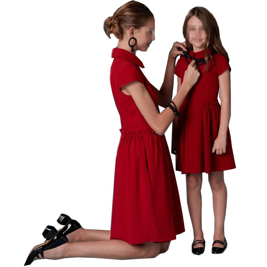Red family matching clothing parent-child clothing manufacturers