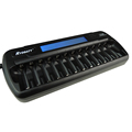 12 bay AA/AAA NiMH/NiCD LCD Smart Charger