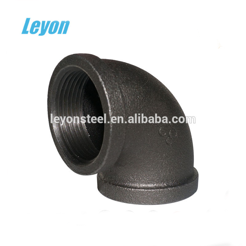 90 degree malleable iron steel pipe 90 degree elbow