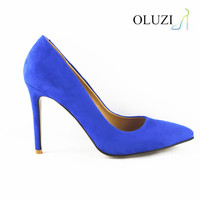 OP08 royal blue woman dress shoe high heel shoes woman