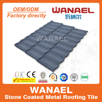 Wanael Bond anti-rust waterproof stone coated metal roof sheets,guangdong home building materials