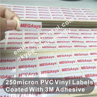 Custom 3M strong adheive plastic permanent labels for equipment, sticky labels with 3M glue for electronics equipment asset tags