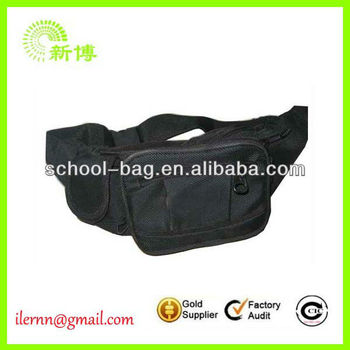 leather portable waist bag for men