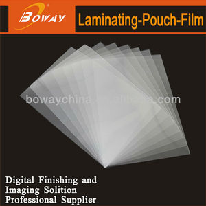 BOWAY supply a3 hot double side flat laminating pouch film