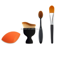 Personal 4 pieces makeup countouring collection powder foundation brush set