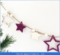 Home Decoration Wood Craft Star Zipper Pull Flowers For Children's Room Decoration