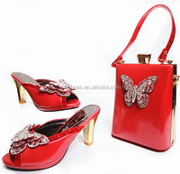 2018 Women Shoe And Bag To Match For Party/Italian Women Shoe And Bag Set/New Design African Shoe And Bag Set BCH-33