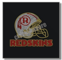 Redskins Rhinestone Hotfix Transfer Football Helmet for t shirt