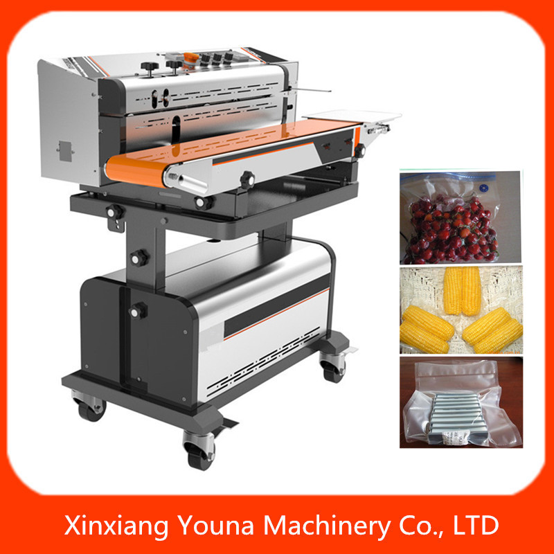 continuous vacuum band sealer for plastic bags with nitrogen filling