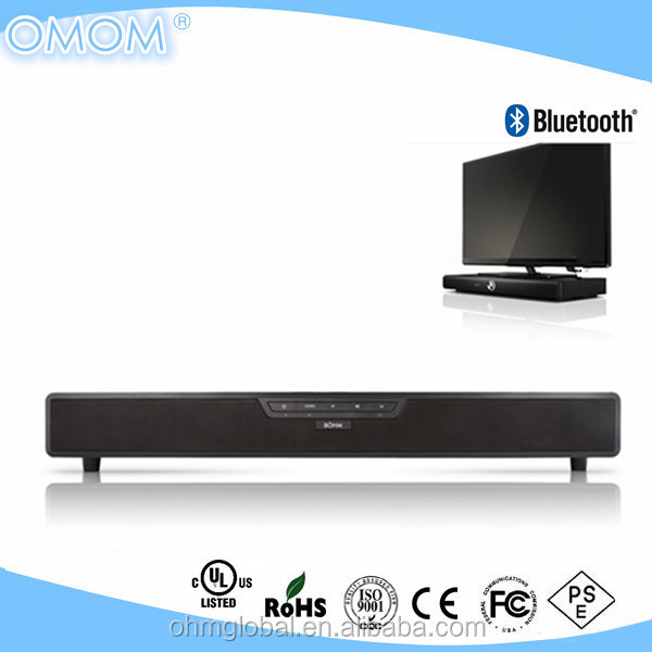 TV Sound Base Bluetooth Tabletop TV Soundbar Digital Speaker System with Remote Control, AUX/RCA Inputs (OHM-4009)