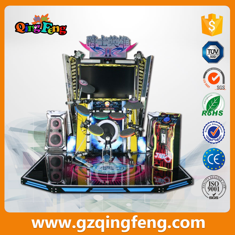 Qingfeng hot selling electric Drum Skill Jazz Hero Drums Disco music Game Machine