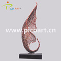Abstract handmade welded metal nuts decorative sculpture