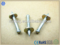 2013 Vertical Grooved Shank Shooting Nail With Metal Washer